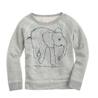 Girls crewcuts For David Sheldrick Wildlife Trust Elephant Sweatshirt