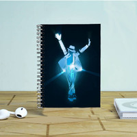 Michael Jackson Blue Vector Photo Notebook Auroid
