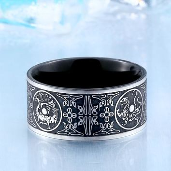 BEIER Cool Unique Animal For Man Stainless Steel Do The Old Retro Gothic Chinese Style Man's Ring Jewelry Br8-386