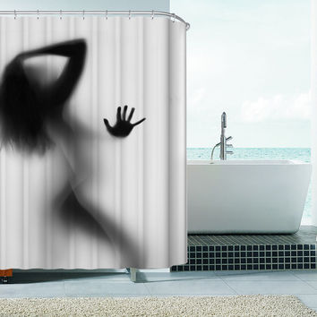 Original Sexy Woman Silhouette Bath/Shower Curtain 180x180