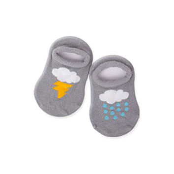 Newborn Boys Baby Infant Girl Ankle Socks Cloud Print Cotton Anti-slip Socks 0-4Y H77 NW