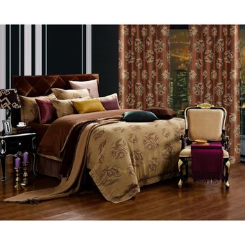Dolce Mela DM474Q Jacquard Damask Luxury Bedding Queen Duvet Cover Set - Gifts for You and Me