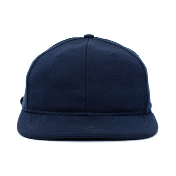 Mid Weight Terry 6 panel Cap (Navy)