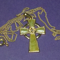Vintage delicate gold plate crucifix in what by maggiescornerstore