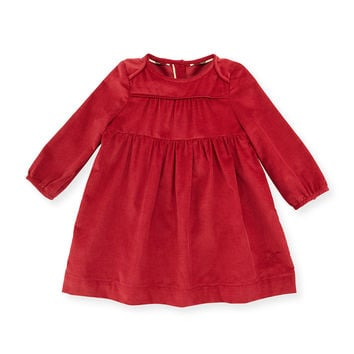 Alara Smocked Corduroy Dress, Rose, Size 3M-3Y, Size: