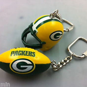 Green Bay Packers NFL Football Lil Sports Brat Keychain Collectible Gift