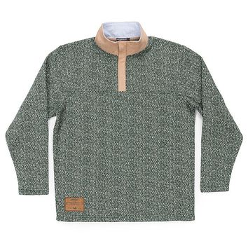 Cascade Herringbone Pullover in Dark Green by Southern Marsh - FINAL SALE