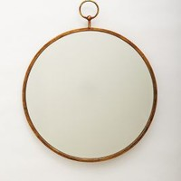 Hoop Mirror by Anthropologie in Bronze Size: One Size Wall Decor