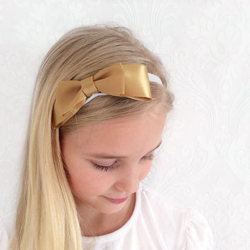 Gold Baby, Child Headband, Stretchy Headband, Fashion Hair Accessories, Head Wrap, Shabby chic, Ear Warmer, Sweatband, Child Teen Gift Idea.