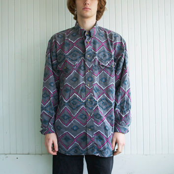 Vintage Southwestern Print Button Up Shirt