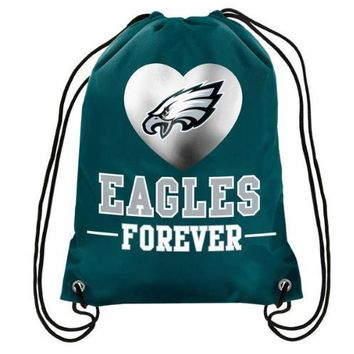 35x45CM  Drawstring Backpack Bags Knitted Fabric for Philadelphia Eagles Digital Printing Pouch Sports