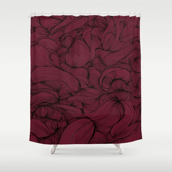 Rose Petal Red Shower Curtain by DuckyB (Brandi)