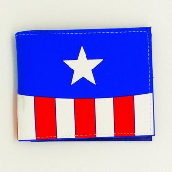 new design captain american marvel anime Silica gel men wallets the wolf of game of throne man credit card holder Money purse