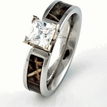 Camo Engagement Wedding ring