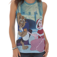 Disney Beauty And The Beast Snow Girls Tank Top
