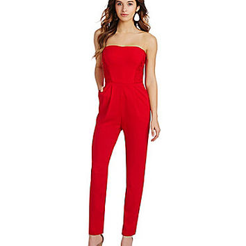 GB Strapless Jumpsuit - Red