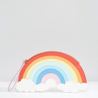 LYDC Exclusive Rainbow Wristlet Clutch Bag at asos.com