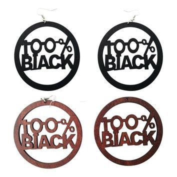 100% Black earrings | Natural hair earrings | Afrocentric earrings | jewelry | accessories