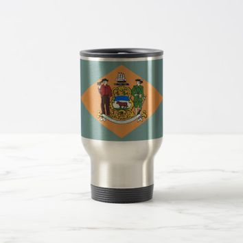 Travel Mug with Flag of Delaware State - USA