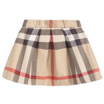 New Classic Check Beige Skirt