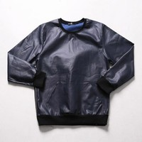 Mens XQUARE 23 Leather Sweatshirt at Fabrixquare