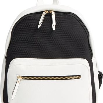 POVERTY FLATS by rian Faux Leather & Neoprene Backpack | Nordstrom