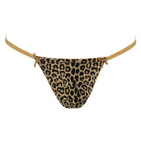 Ivy Leopard Thong | Shop Intimates at Wet Seal