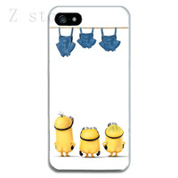 Funny Cute Despicable Me Minions Clear Soft TPU Case for iPhone 4 4S 5 5S 5C 6, 6 Plus