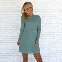 Strong Bond Knit Dress in Mint