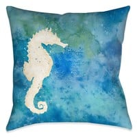 Seahorse Splash Indoor Decorative Pillow