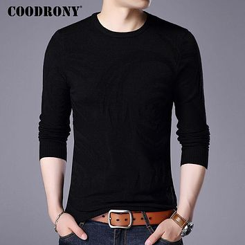 Sweater Men New Winter Warm Men Knitted Sweaters Cashmere Wool Pullover Men Fashion Floral O-Neck Pull