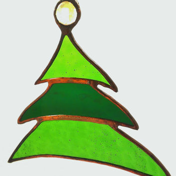 Stained Glass Christmas Tree Christmas Tree Ornament Free Shipping