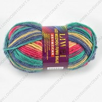 Wholesale Cheap Australian Wool Cord/Thread, Colorful, about 100g/roll, 5rolls/package at Lovehobbycraft.com