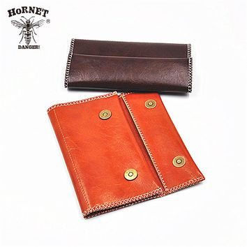 [HORNET] 1X PU Tobacco Pouch With 78MM Paper Holder Tobacco wallet Bag Purse B