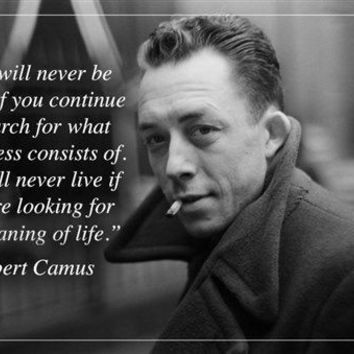 ALBERT CAMUS french writer MOTIVATIONAL & INSPIRATIONAL quote poster 24X36