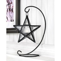 Starlight Star Shaped Hanging Candle Lantern w/ Stand
