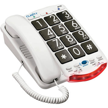 Clarity Amplified Telephone With Talk Back Numbers (black Buttons)