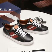 BALLY  Man Fashion Casual Shoes Men Fashion Boots fashionable Casual leather Breathable Sneakers Running Shoes Sneakers