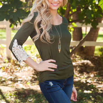 Lorette Top - Olive