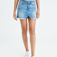 AE High-Waisted Festival Mini Skirt, Blue