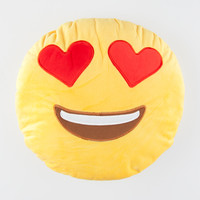 Smiley Face Heart Eyes Emoji Pillow | Lighting & Decor