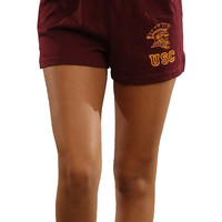 Soffe USC Trojan Elastic Waistband Sports Shorts in Wine