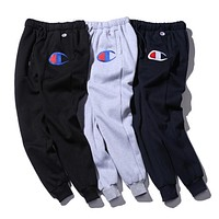 """Champion"" Women Men Fashion Embroidering Print Sport Stretch Pants Trousers Sweatpants"