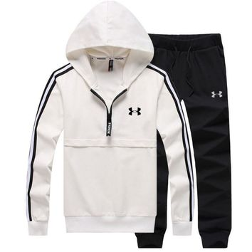 Under Armour PRINT HOODIE TOP AND TWO PIECE SUIT WHITE