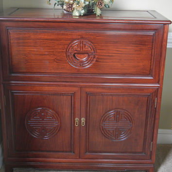 Chinese Fold-Out mirrored Cabinet Bar