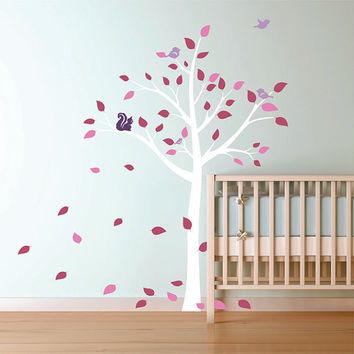 Spring Tree Vinyl Wall Decal Nursery Wall Decor Vinyl Wall Art Baby's Room in the spring time