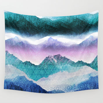 Mountain Dreamscape Wall Tapestry by Louise Donovan