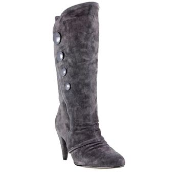 Chinese Laundry Kicky- Grey Knee-High Suede Boot