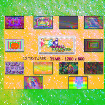 12 Lisa Frank INSPIRED Halloween Photoshop Textures 1200 x 800 Photoshop Paper Scrapbooking Resources Instant Download Colorful Iridescent