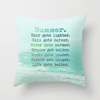 SUMMER Throw Pillow by Monika Strigel | Society6